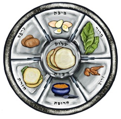 Passover Graphic seder plate